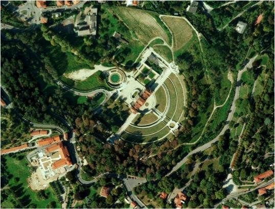 Vista aerea Villa della Regina