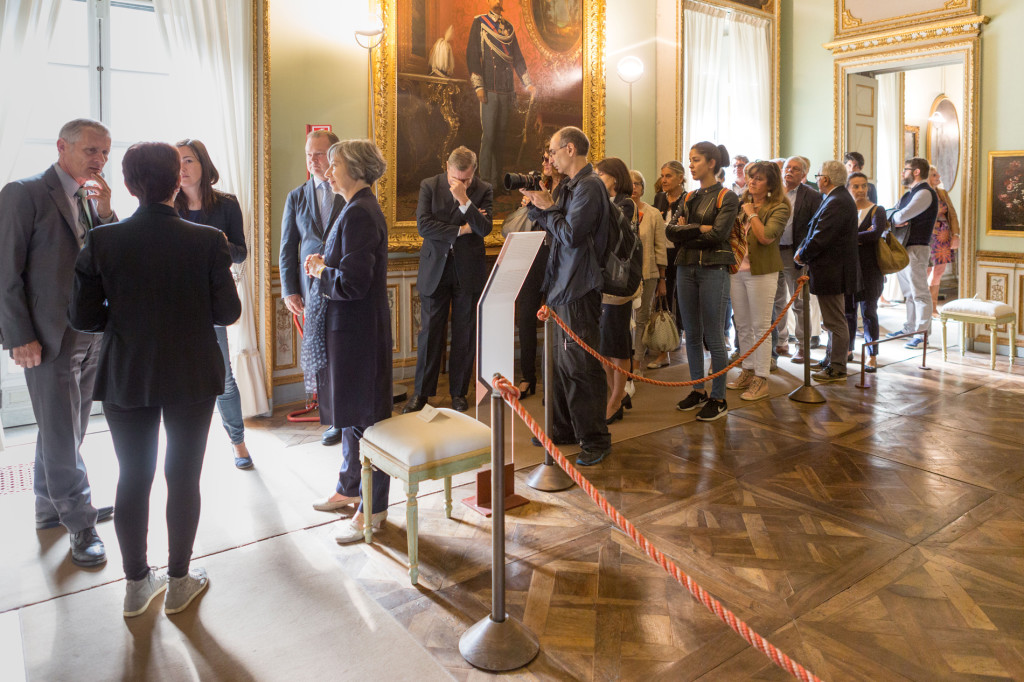 Visita dei viennesi a Villa della Regina