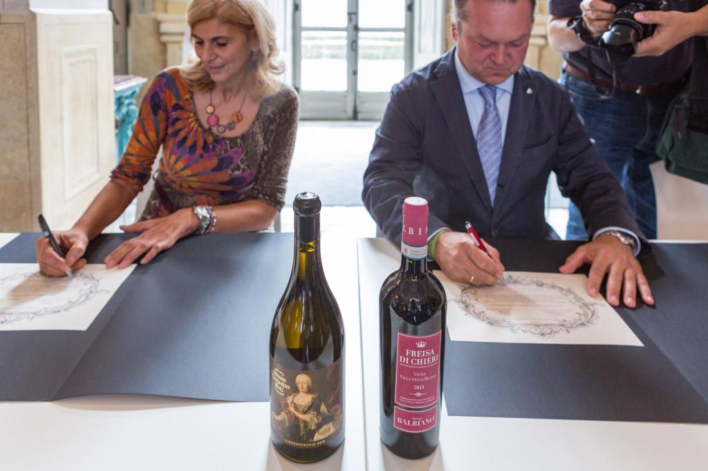 Monica La Cava e Fritz Wieninger firmano il gemellaggio