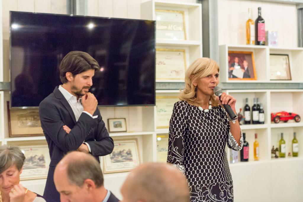 Luca Balbiano (Cantine Balbiano) e Monica La Cava (Presidente Associazione Amici di Villa della Regina)