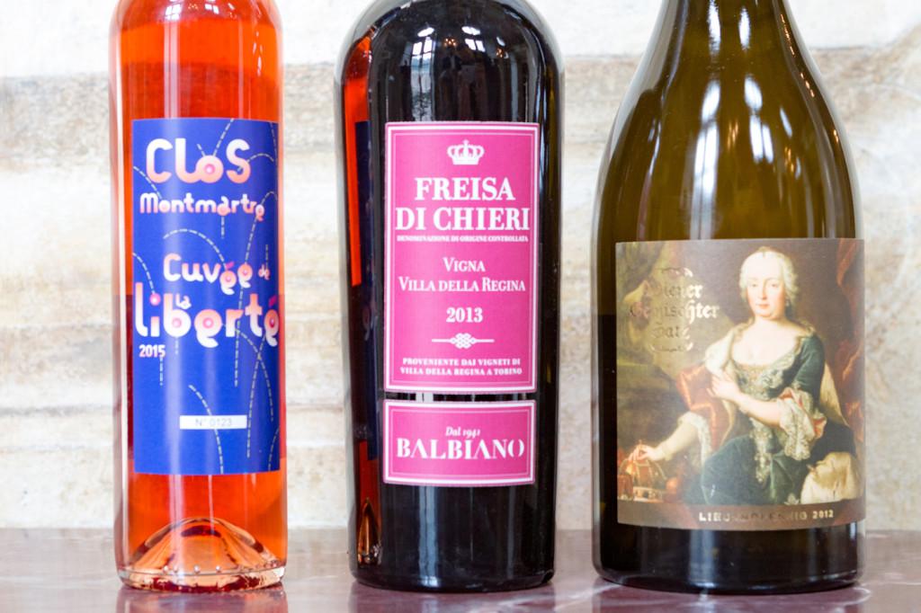"""I tre vini urbani d'Europa: Clos Montmartre, Freisa di Chieri Sup. """"Vigna Villa della Regina"""" e Wiener Gemi"""
